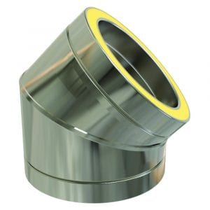 Twin Wall 45 Degree Bend 125mm Stainless Steel