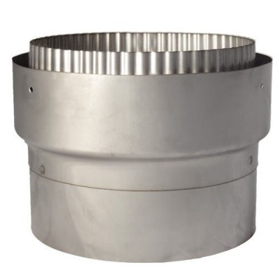 Flue Adapter 125mm Rigid To 125mm Flex