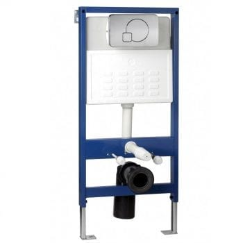 Pura Wall Hung WC Bowl Frame System Dual Flush