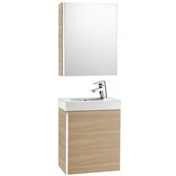 Roca Mini Unik With Mirror Cabinet Textured Oak