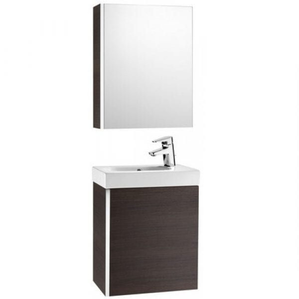 Roca Mini Unik With Mirror Cabinet Textured Wenge