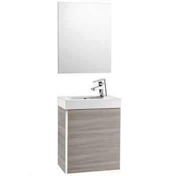 Roca Mini Unik With Mirror Textured Grey