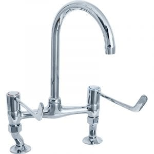 Deva DLV305B 6 inch Lever Bridge Sink Mixer