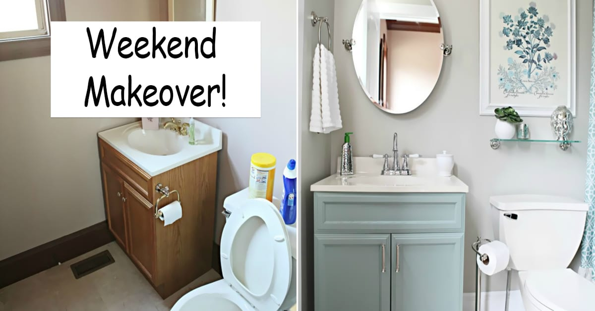 Bathroom Makeover Updating A Bathroom Modernising A Bathroom Cheap - Bathroom updates on a budget