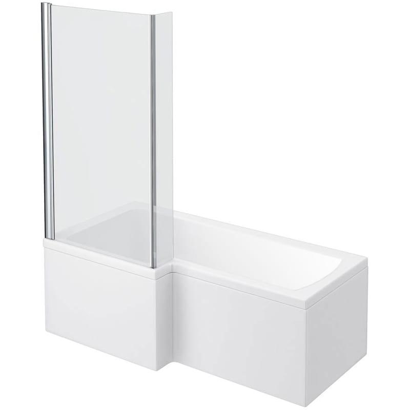 Square Shower Bath 1700 Left Hand, Panel & Screen - SNH