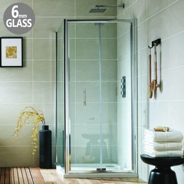 900mm Bi-Fold Shower Door