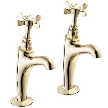 Deva Coronation Gold Coronation Sink Pillar Taps