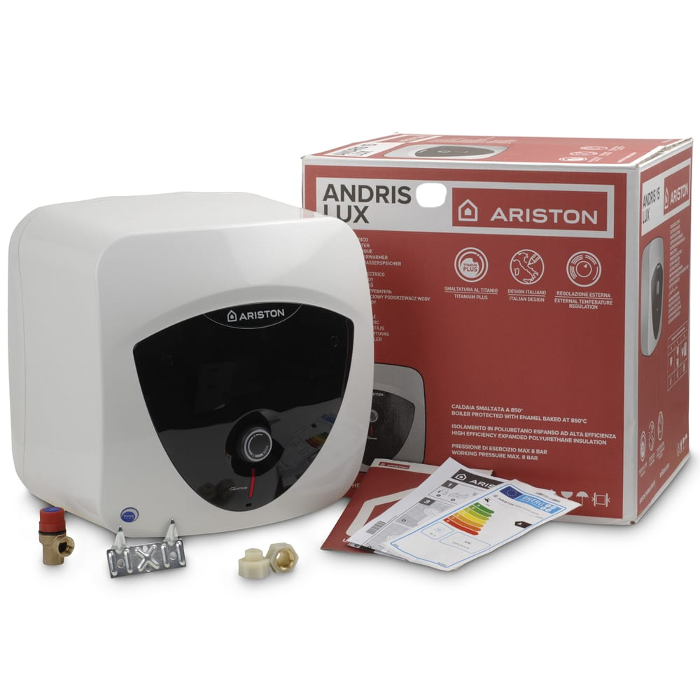 Ariston lux ep10 oversink unvented water heater 3kw 10 for Ariston andris lux 10