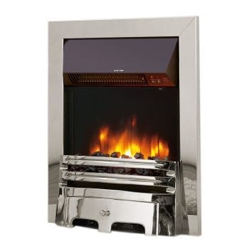 "Celsi Accent Traditional Chrome 16"" Inset Electric Fire"