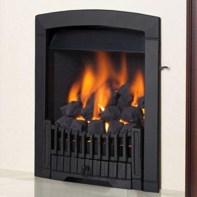 Flavel Rhapsody black gas fire