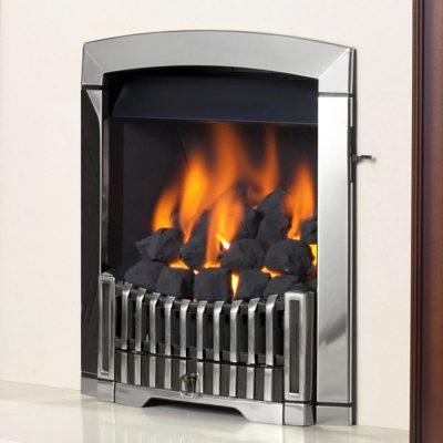Flavel Rhapsody Silver Gas Fire