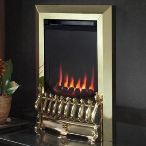 Flavel Raglan Brass balanced flue gas fire
