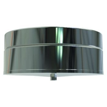 Convesa Tee Cap With Drain 125mm Stainless Steel