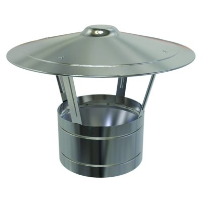 Convesa Rain Cap Stainless Steel 125mm