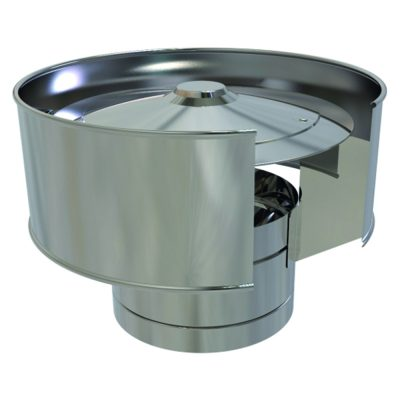 Anti-Wind Cowl Stainless Steel 150mm