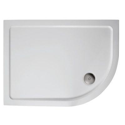 1000 x 800 Offset Quadrant Right Hand Shower Tray
