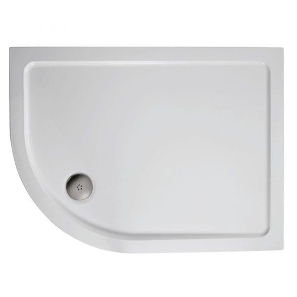 1000 x 800 Offset Quadrant Left Hand Shower Tray