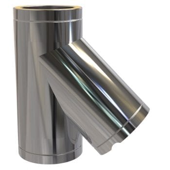 Twin Wall Tee 135 Degree 150mm Stainless Steel