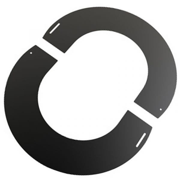 Round Finishing Plate 45 Degree 125mm Black