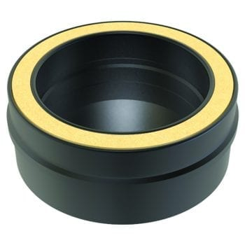 Tee Cap 125mm Black Convesa