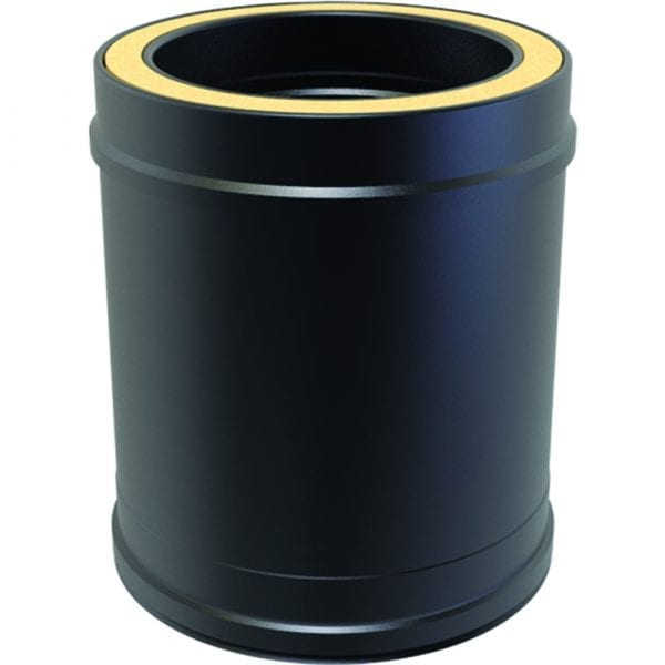 Twin Wall Insulated Pipe 250mm 125mm Black