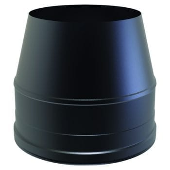 Cone Top Cowl Black 125mm