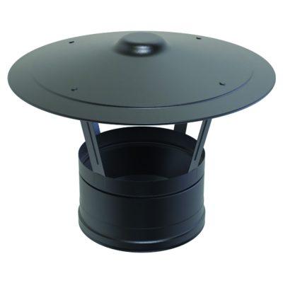 Rain Cap Black 125mm