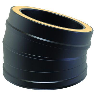 Twin Wall 15 Degree Bend 125mm Black