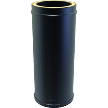 Twin Wall Insulated Pipe 500mm 125mm Black