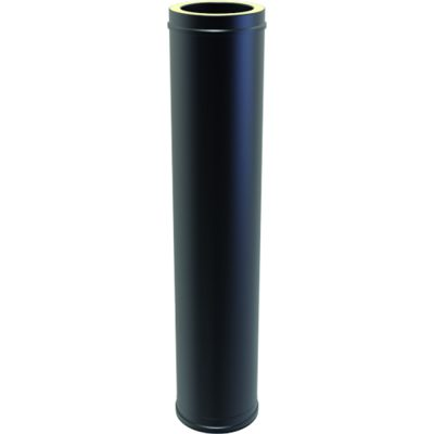 Twin Wall Insulated  Pipe 1000mm 125mm Black
