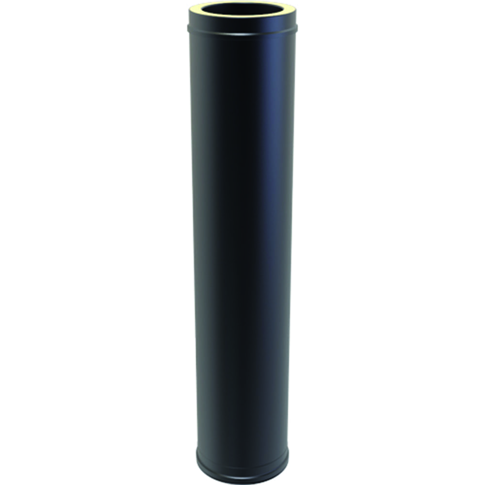 Twin Wall Insulated Pipe 1000mm 125mm Black 163 53 99