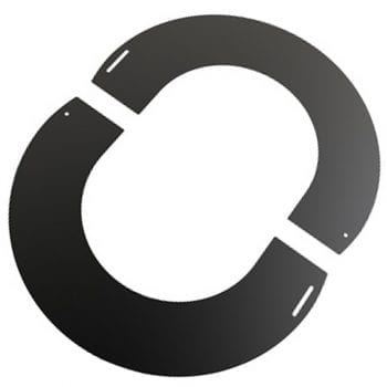 Round Finishing Plate 90 Degree 150mm Black