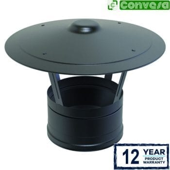 Rain Cap Black 150mm