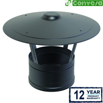 Rain Cap Black 150mm