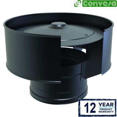 Anti-Wind Cowl Black 150mm