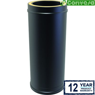 Twin Wall Insulated Pipe 500mm - 150mm Black