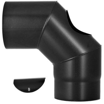 90 Degree Elbow with Door Vitreous Enamel 125mm