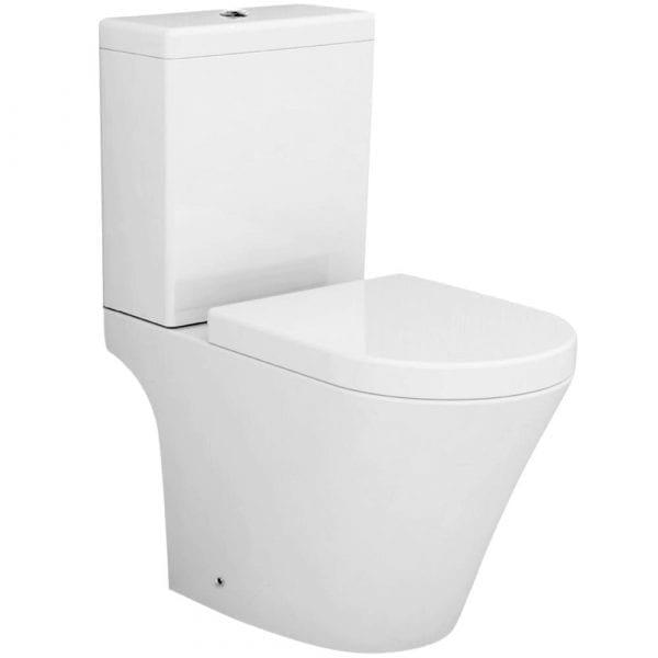 Pura Arco Open Back Close Coupled Toilet