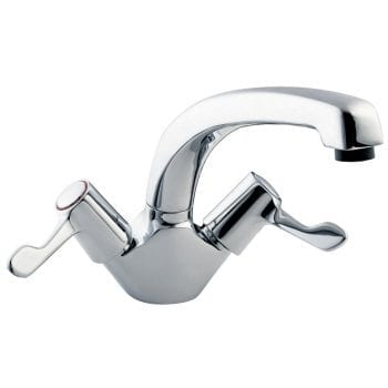 Deva DLT104 Lever Action Mono Sink Mixer Swivel Spout