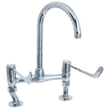 "Deva DLV305B 6"" Lever Action Bridge Kitchen Sink Mixer"