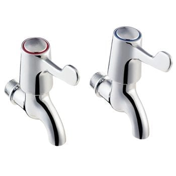 Deva DFV095 Care Lever Action Chrome Bib Taps