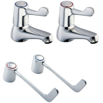 Deva DLV102 6 Inch Lever Action Chrome Bath Taps
