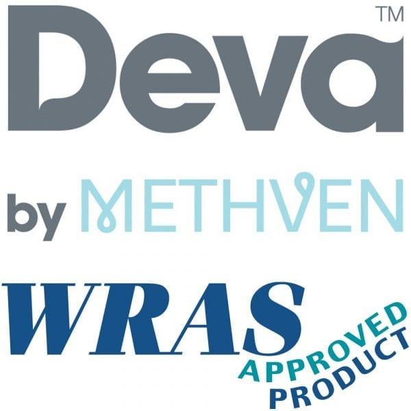 Deva DLV102 6 Inch Lever Action Chrome Bath Taps