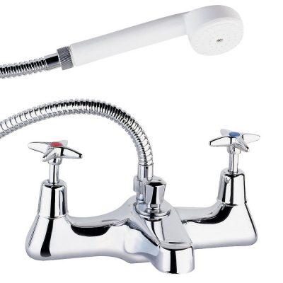 Deva 186X deck mounted bath shower mixer