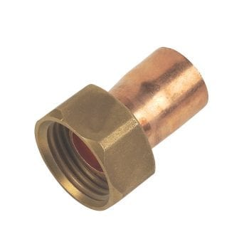 15mm x 1/2 Inch Straight Tap Connector End Feed