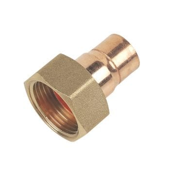 15mm x 3/4 Inch Straight Tap Connector End Feed