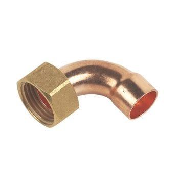 15mm x 1/2 Inch Bent Tap Connector End Feed