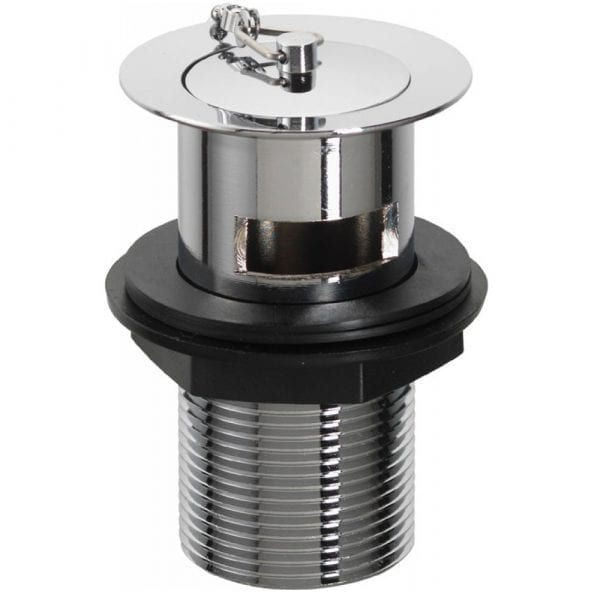 Pura Basin Waste Kit Plug & Chain Slotted Chrome BW100