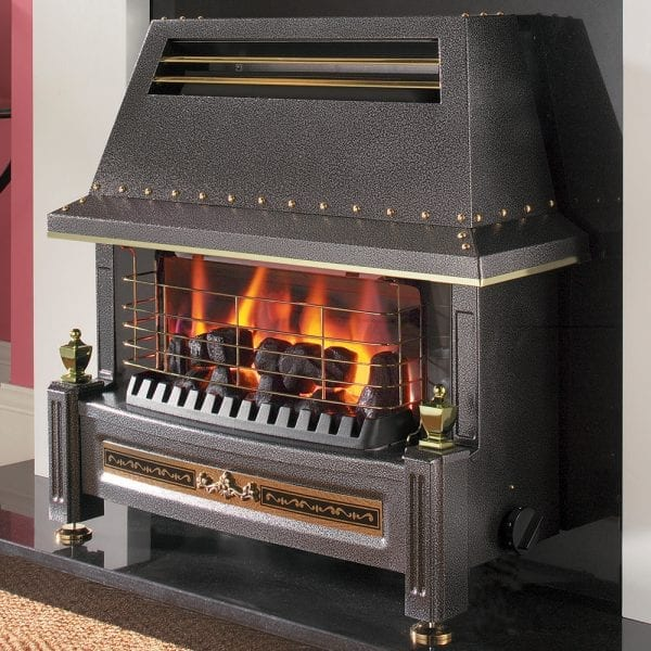 Flavel Regent Gas Fire LFE Black FRLCN0EN