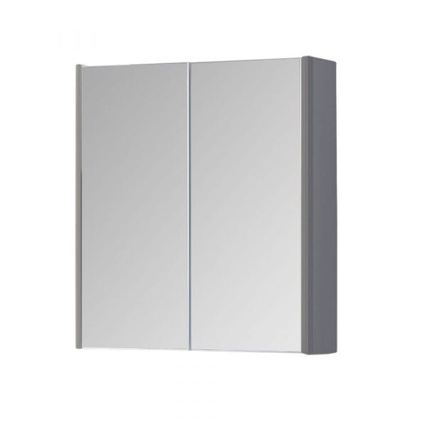 K Vit Options Mirror Cabinet 600mm Basalt Grey